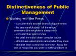 distinctiveness of public management24
