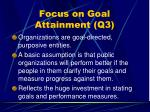 focus on goal attainment q338