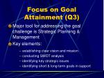 focus on goal attainment q341