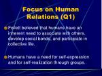 focus on human relations q152