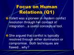 focus on human relations q153