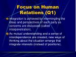 focus on human relations q154