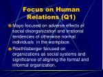 focus on human relations q156