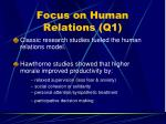 focus on human relations q157