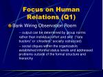 focus on human relations q158