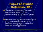 focus on human relations q159