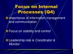 focus on internal processes q4