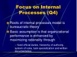 focus on internal processes q443