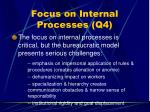 focus on internal processes q445