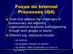focus on internal processes q446