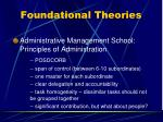 foundational theories13