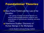 foundational theories14