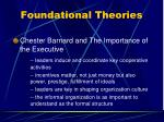 foundational theories15