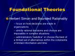 foundational theories16