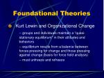 foundational theories17