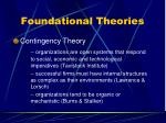 foundational theories19
