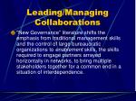 leading managing collaborations