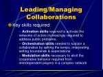leading managing collaborations114