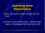 learning from experience10