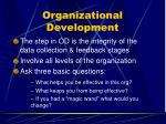 organizational development107