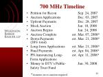700 mhz timeline