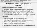 mental health and the legal system an overview