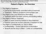 patient s rights an overview