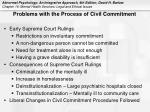 problems with the process of civil commitment
