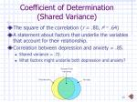 coefficient of determination shared variance