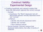 construct validity experimental design