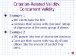 criterion related validity concurrent validity