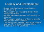 literacy and development