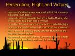 persecution flight and victory