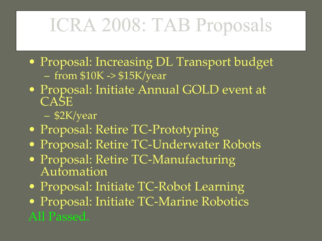 Proposal: Increasing DL Transport budget