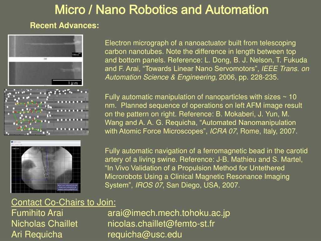 Micro / Nano Robotics and Automation