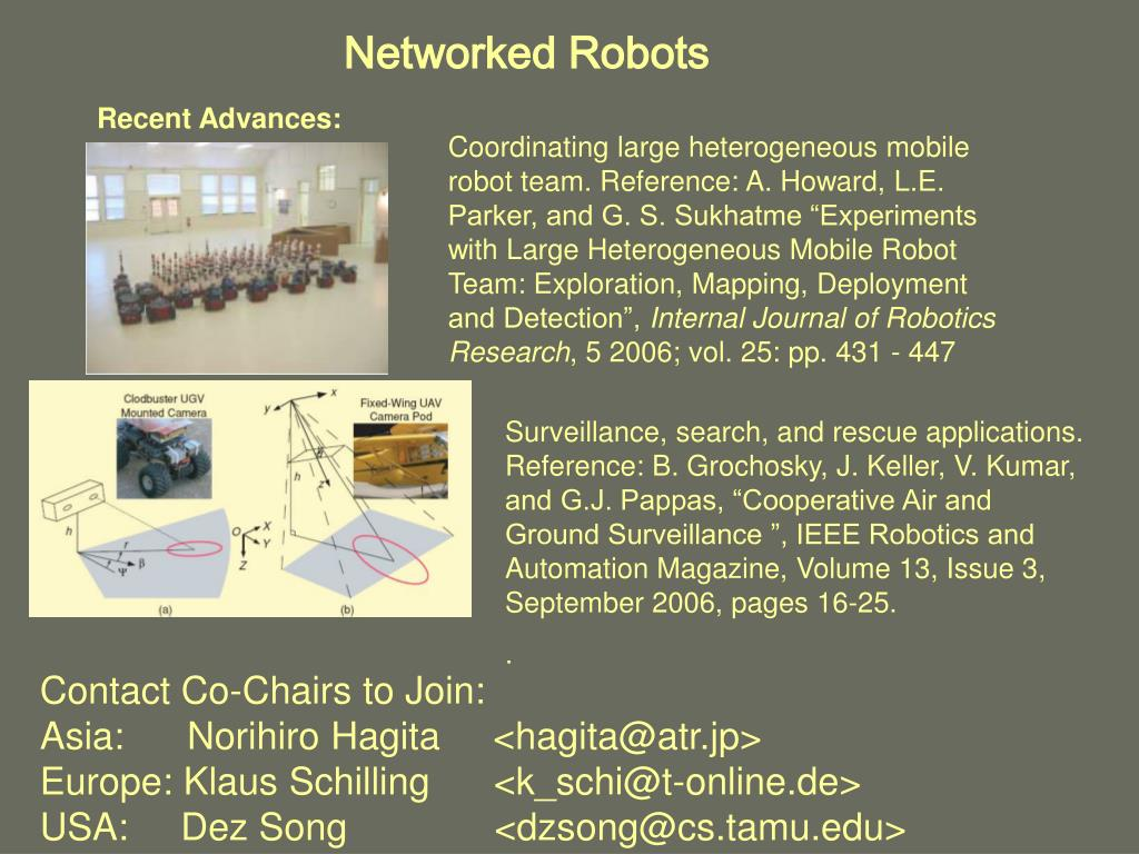 Networked Robots