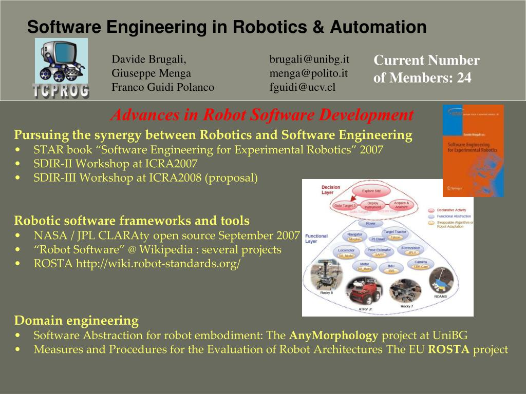 Pursuing the synergy between Robotics and Software Engineering