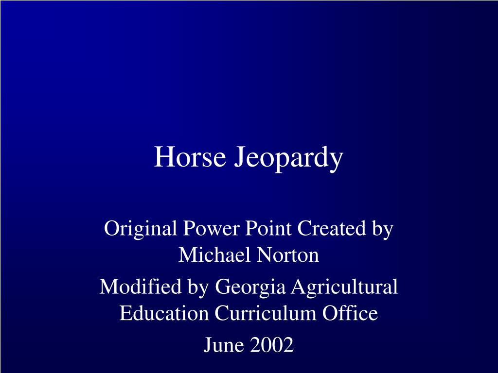 horse jeopardy l.
