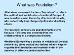 what was feudalism