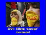 2004 kifaya enough movement