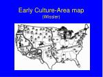 early culture area map wissler