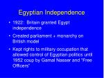egyptian independence