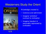 westerners study the orient