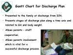 gantt chart for discharge plan