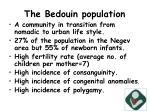 the bedouin population