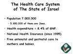 the health care system of the state of israel