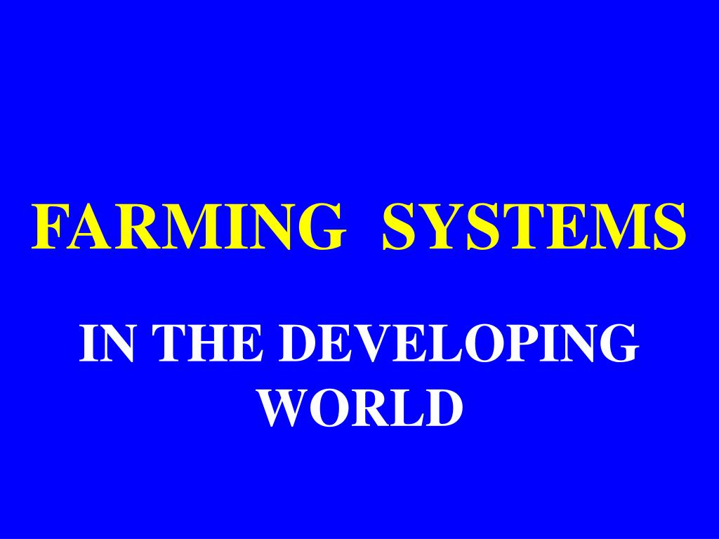 farming systems l.