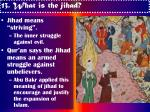 13 what is the jihad