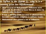 6 what is the hijrah why is it a turning point for muhammad