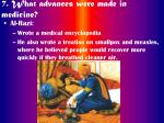 7 what advances were made in medicine42